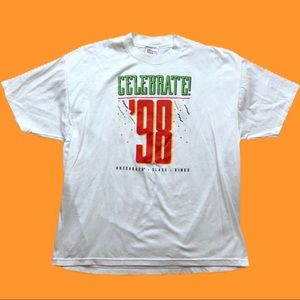 90s Celebrate 98 Promotional T-shirt Size XL T188